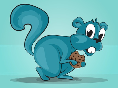 Hungry Squirrel cookie illustration animal sneaky squirrel