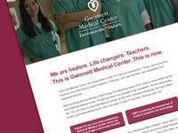 Landing page for Gwinnett Medical Center