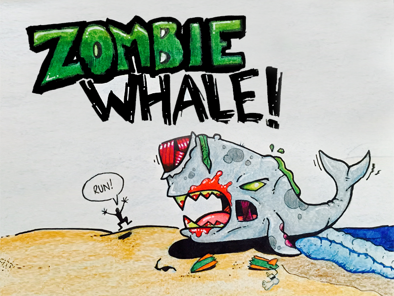 Zombie Whale By Don Hansen Dribbble Dribbble