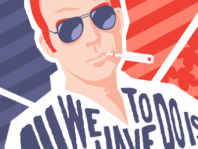 Hunter S. Thompson Quote - Poster