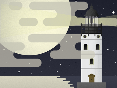 Constance & Variables bioshock infinite games video gaming illustration grain vector clouds moon lighthouse bioshock
