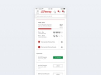JCPenney Rewards Dashboard