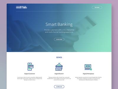 Smart Banking Landing Page ux banking web visual design website ui landing page home page
