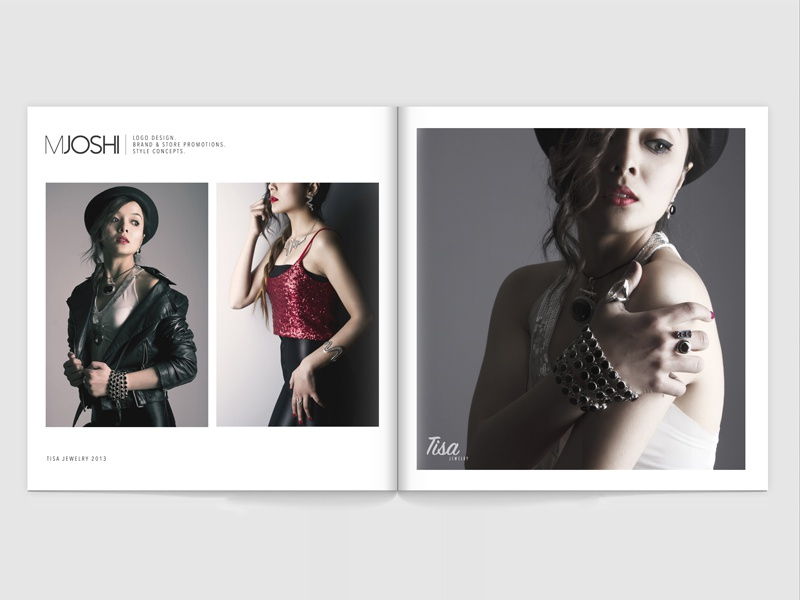 Brand Promotion for Tisa Jewelry photography products handcrafted jewelry silver fashion brochure promotion brand