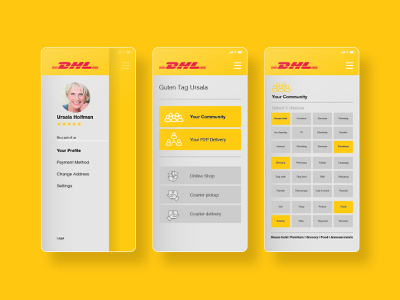 DHL Product Strategy strategic design product design minimal app ux ui design