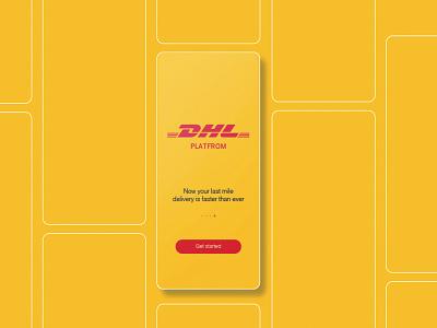 DHL minimal web app ux ui design