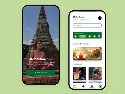 Meditation App app ux ui