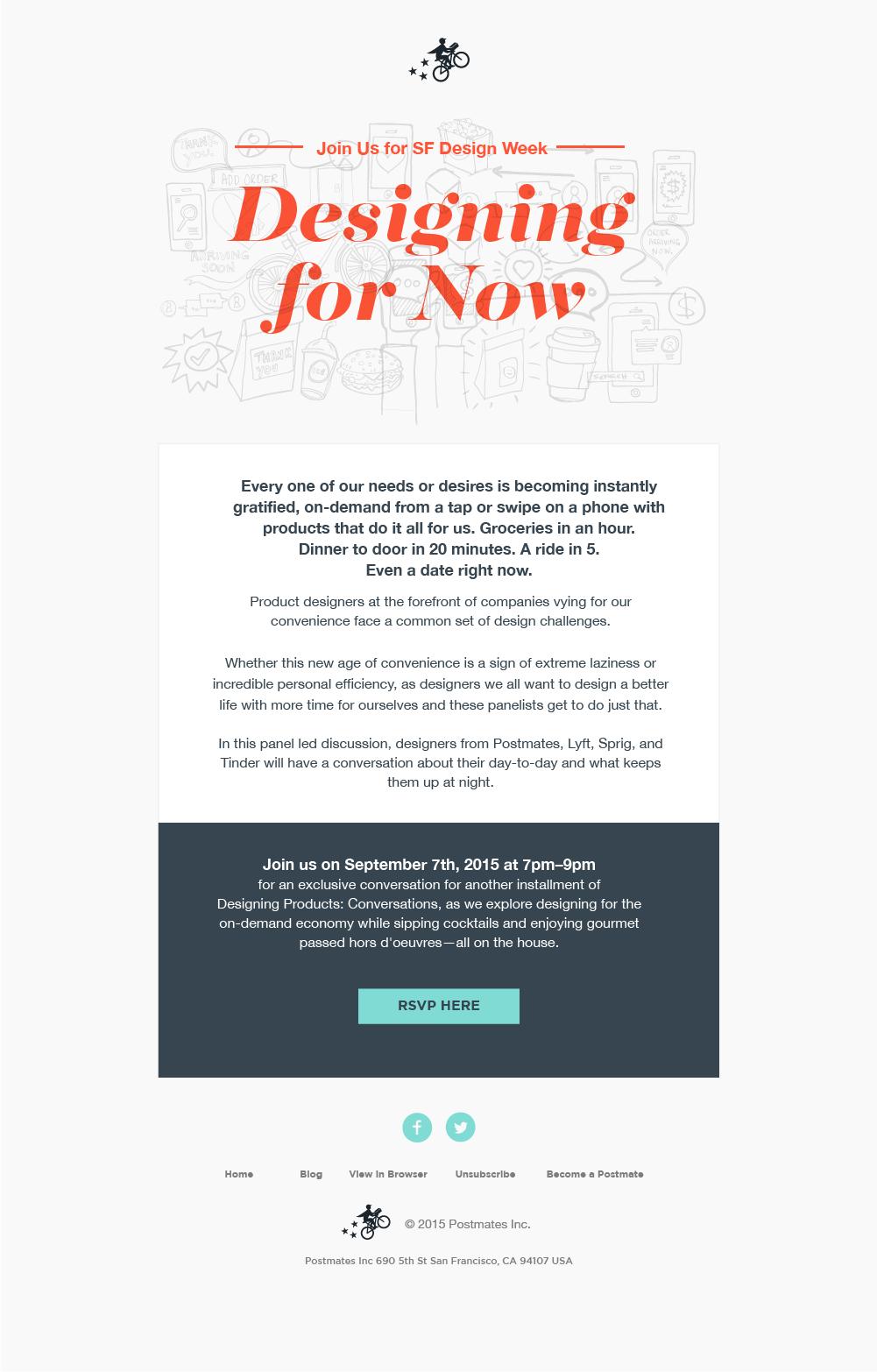 Postmates email invite kennyhopper 01