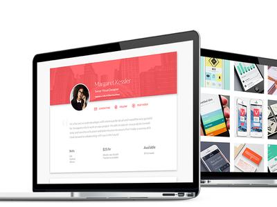 Profile page design designs profile