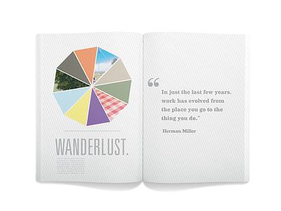 Wanderlust book design layout book design