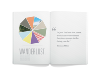 Wanderlust book design