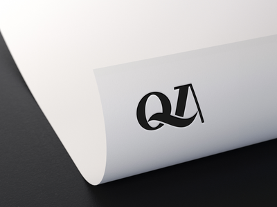 QA MONOGRAM LOGO qatar dubai newyork usa logodesign logos stationary brandidentity brand design branding luxury clothing apparel monogram logo graphic design