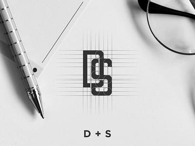 DS MONOGRAM LOGO PROCESS qatar dubai newyork uae usa agency consulting stationary brandidentity brand vintage design branding luxury clothing apparel monogram logo graphic design