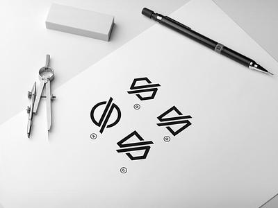 LETTER S  LOGO logotype logos qatar dubai uae newyork usa stationary brand brandidentity design branding luxury clothing apparel monogram logo graphic design
