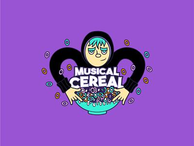 Musical Cereal trap music logo branding design vector graphic design