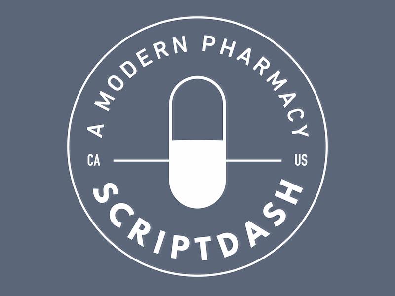 ScriptDash badge logo branding pharmacy startup logo