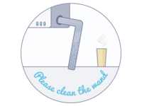 Please clean the espresso wand