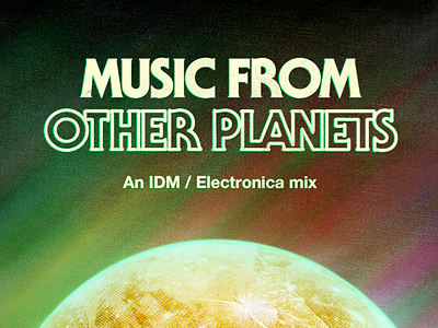 Music From Other Planets album art album cover cover retro colourful planet grunge