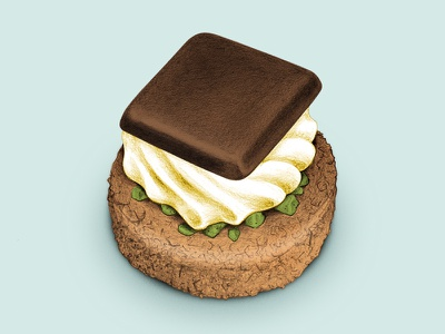 Yum sketch petit fours dessert chocolate drawing