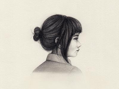 Sketch shading profile girl drawing pencil drawing pencil sketch