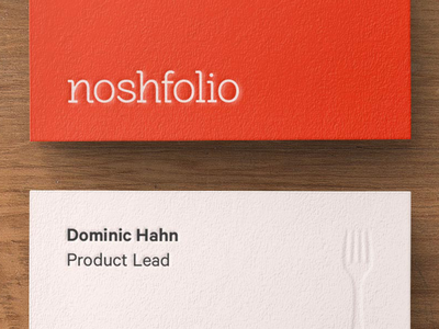 Business Cards embossed letterpress branding noshfolio collateral print business card card cards business cards