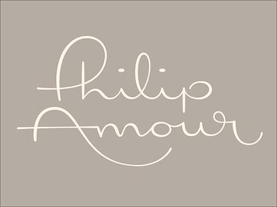 Philip Amour Logotype typography branding logo philip amour lettering logotype