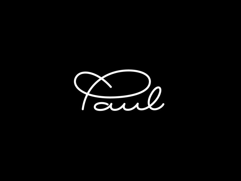 Paul paul p letterforms logo logotype branding type flourish typography lettering