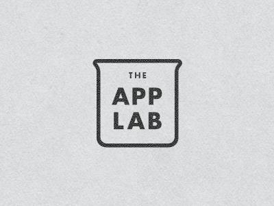 App Lab app lab logo concept science beaker futura