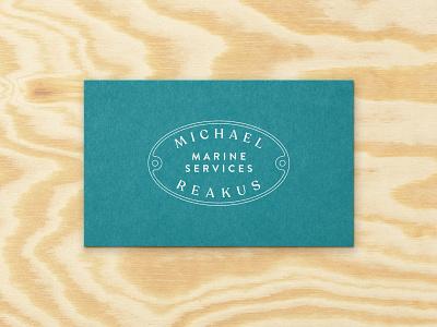 Marine Services print ships boats boat repair repair marine card business card business cards collateral typography logo branding