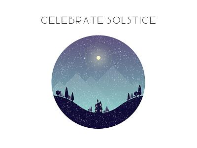 Solstice winter illustration illustrator solstice