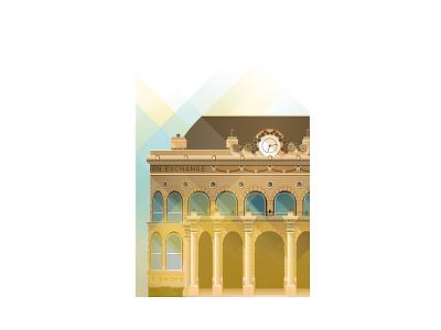 Leeds Corn Exchange building leeds illustration vector