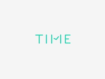 Time timer minimalism logotype watch clock logo time laukai studio vilnius conceptual