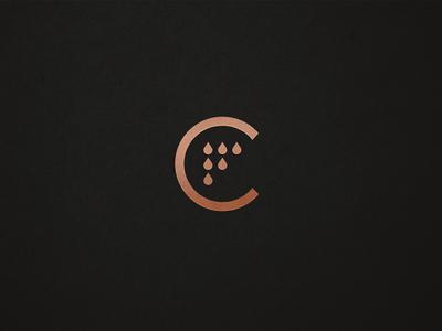 Copper Field field copper brandmark icon logo organic hemp seeds drop oil