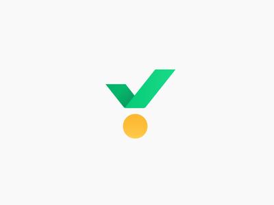 medal + check rating sport sports logo mark check medal