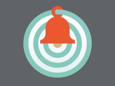 Bell The Ring raster branding icon ring illustration ripples graphics wall bell symbol