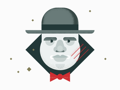 A Friend Of Ours 30s tuxedo hat laukai speakeasy illustration mobster typewriter chicago