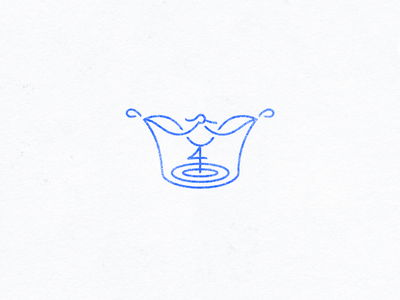 Royal Crane stamp luxury boutique workout sports water bird crown crane