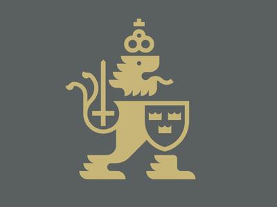 Göteborg coat of arms laukai studio skandia sticker branding mark logo shield lion sword crown gothenburg