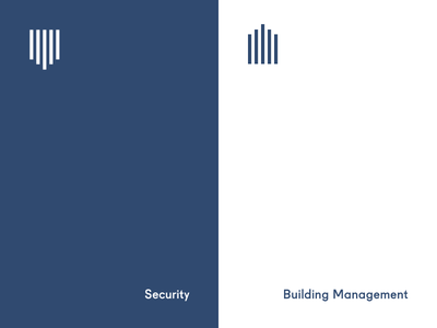 Shield & House geometric management building security logo minimal stripes wayfinding house shield icon
