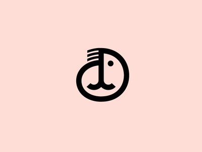 Abstract Mark shrimp laukaistudio character icon line branding mark brand seal logo