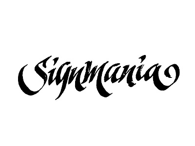 Signmania handmade sketch kinessisk logotype logo lettering calligraphy