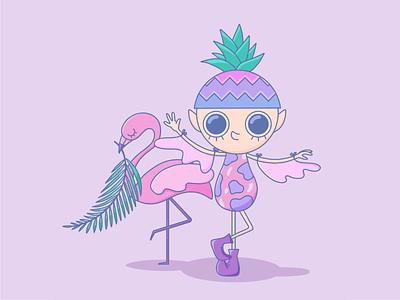 Flamingo 🦩 flamingo nft art nft graphic design character design character illustrations illustration