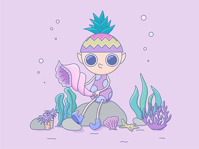 in the Sea 🐚🐠🐡 sea nft art nft graphic design character design character illustrations illustration