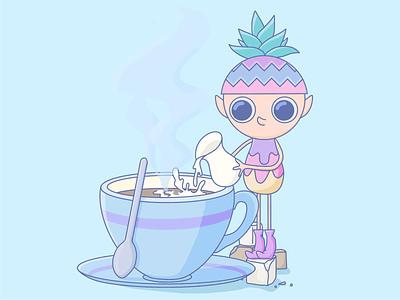 Coffee ☕️ retro color retro coffee nft art nft graphic design character design character illustrations illustration