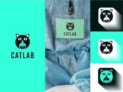 Cat Lab logo Design