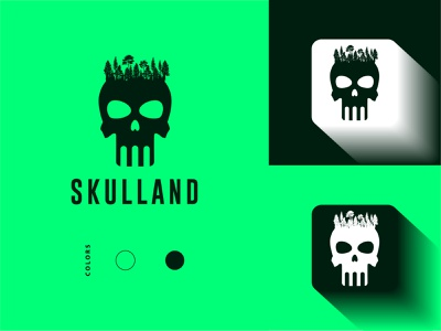 Skull Land Logo Design skull logo logo minimal logo logo design branding