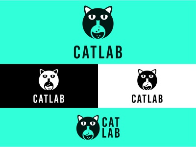 Cat Lab Logo design vector logo minimal logo logo design branding