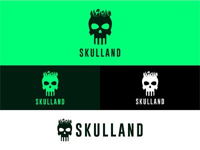 Skull Land Logo Design logo minimal logo logo design branding