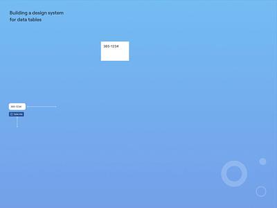 Design system for data tables cpq enterprise branding motion graphics app ux ui