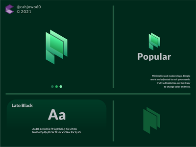 Popular logo simple minimalist modern graphic design app ux ui typography vector logo icon illustration design branding